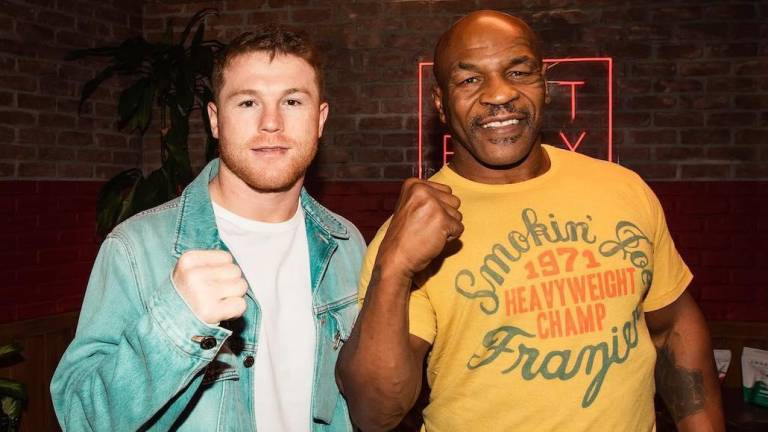"""Canelo"" y Mike Tyson."